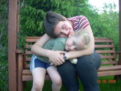 Ja i Weronika na działeczce